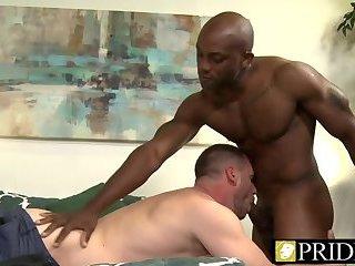 Anal,Ebony,Interracial,Blowjob,gay,muscled,couple Black dude...