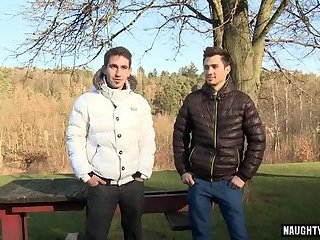 Outdoors,boys,interview,gay Big dick daddy...