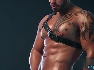 Masturbation,Solo,Tattoo,muscle,leather gear,gay Muscle gay rimjob...