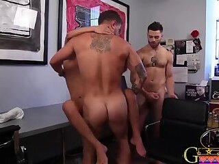 Pornstars,Threesome,Office,gay Gay Office Sex