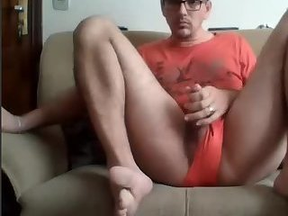 Amateur,Masturbation,Solo,glasses,gay Jerkoff Show...