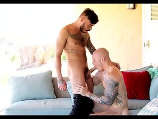 Anal,Amateur,Big Cock,Tattoo,Blowjob,Bareback,gay,HD,Trevor Laster,Chris Knight Spicing Up The Party