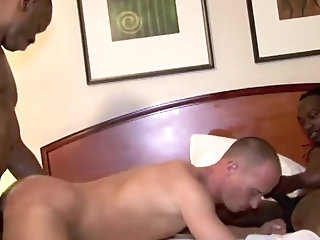 Anal,Big Cock,Ebony,Interracial,gay darksome On White...