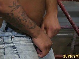 Anal,Cumshot,Interracial,Tattoo,Blowjob,muscle,gay Inked black guy...