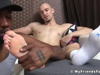 myfriendsfeet;feet;fetish;toes;jock;interracial;foot-fetish;bbc;softcore;sole-licking;toe-sucking;toe-licking;angelo;worship;latin,Black;Latino;Gay;Jock;Feet Bald gay Latino...